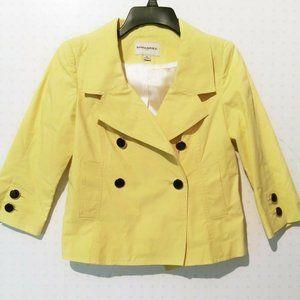 Banana Republic Women Lemon Yellow Pea Coat Sz XS